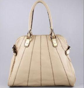 Ladies Beige Genuine Leather Tote (300463420776)
