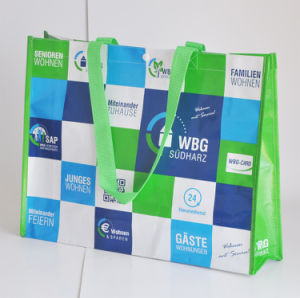 Lamination PP Woven Tote Bag for Grocery pictures & photos