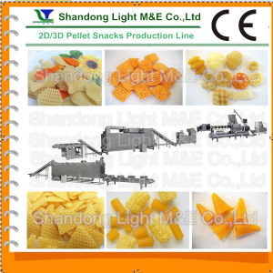 Automatic Fried Extrusion Food 3D Pellet Snacks Process Line pictures & photos