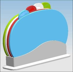 4 in 1 Round Shape Chopping Board (LE52688) pictures & photos