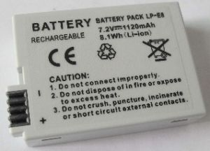 Rechargeable Camera Battery Lp-E8 for Canon