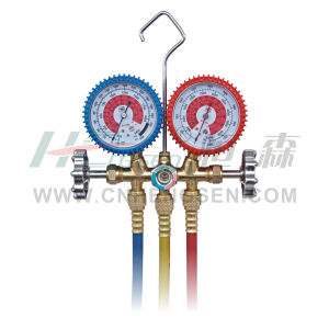 C T-536 G F / a Brass Manifold Gauges Set for R410A Double Gauges Manifold Set Air Conditioner Parts Refrigeration Parts Refrigeration Tools pictures & photos