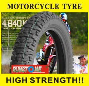off Road Pattern with Strong Body Motorcycle Tyre 4.10-18 2.75-21 pictures & photos