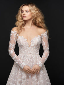 Pink Bridal Wear China Supplier Long Sleeve Lace Wedding Dresses pictures & photos