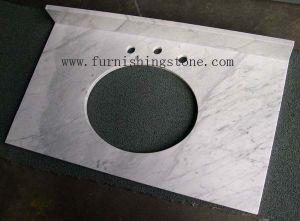 Vanity Top--Mrable Vanity Top White Carrara