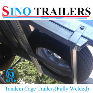 Fully Welded Tandem Cage Utility Trailer pictures & photos