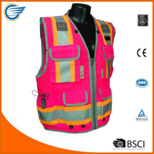 Class 2 Heavy Woven Two Tone Engineer High Visibility Vest pictures & photos