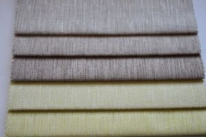 High Quality Linen Household Textile Sofa Curtain Upholstery Fabric pictures & photos