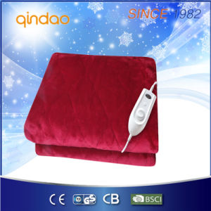 Luxury Soft Flannel Electric Over Blanket Heated Throw for Us Market pictures & photos