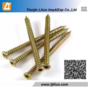 Yellow White Galvanized Torx Drive Concrete Screws pictures & photos