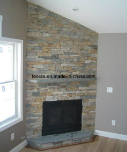 Yellow Quartzite Ledge Stone Panel for Wall Cladding pictures & photos