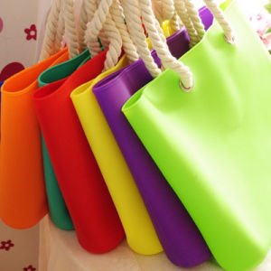 Silicone Bag with Rope Handles, Available in Different Colors pictures & photos