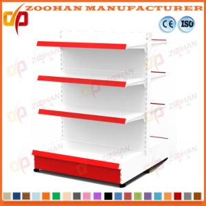 White Customized Supermarket Steel Hole Back Wall Display Shelving (Zhs568) pictures & photos