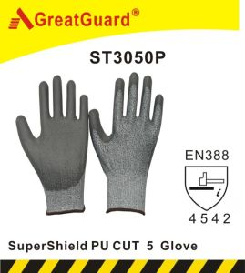 Greatguard PU Palm Cut 5 Glove (ST3050P) pictures & photos