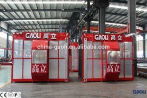 Best Selling Passenger&Goods Building Construction Hoist with Double Cage pictures & photos