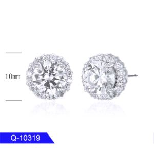 Latest Design Handmake Fashion Jewellery 925 Sterling Silver or Brass Cubic Zirconia Stud Earrings for Women pictures & photos