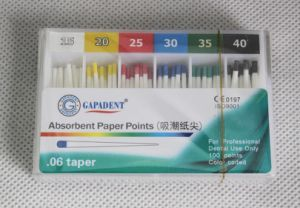 Gapadent Absorbent Paper Point Greater ISO. 06 Taper pictures & photos