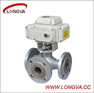 Stainless Steel Flange 3-Way Ball Valve with Electric Actuator pictures & photos
