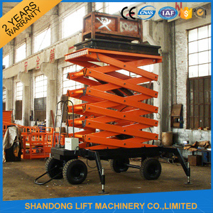 China 300kg 10m Mobile Hydraulic Scissor Lift with Ce pictures & photos