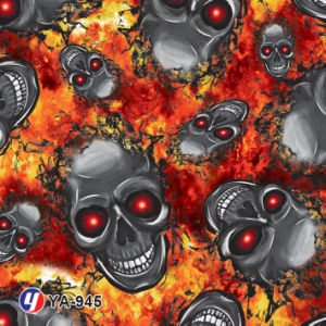 Yingcai 1m Flame Skull Water Transfer Printing Hydro Dipping Film pictures & photos