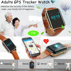 Multi Modes GPS Tracker Watch with Real Time Positioning and Heart Rate (Y16) pictures & photos