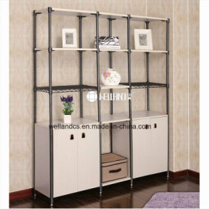 2017 High Quality Livingroom or Office Corner Storage Steel-Wooden Furniture pictures & photos