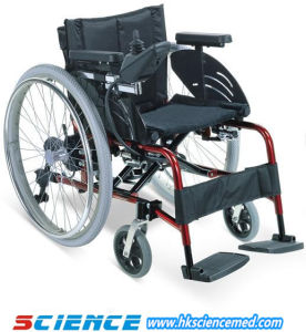 Foldable Aluminum Power Wheelchair (SC-EW09) pictures & photos