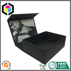 Magic Tape Close Black Paper Cardboard Watch Gift Box with Window pictures & photos