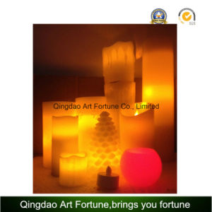 Unscented LED Candle in Glass Bowl Jar pictures & photos