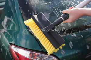 """10"""" Water Flow Plastic Car Wash Brush with Telescopic Handle pictures & photos"""