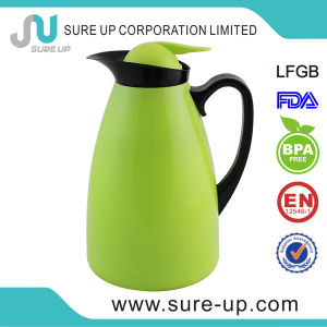 Colored Glass Inner Plastic Handle Water Coffee Flask Jug (JGUT) pictures & photos
