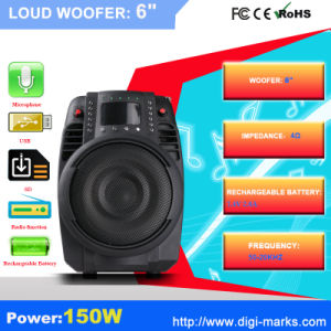 New Cheap Bluetooth Trolley Speaker with LED Light pictures & photos