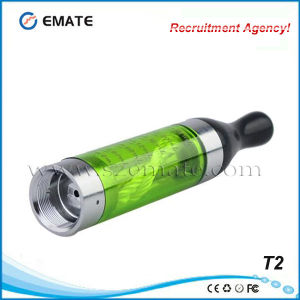 100% No Leaking Big Vapor T2 Clearomizer with Detachable Coil