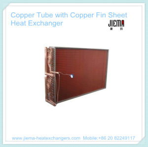 Copper Tube with Copper Fin Sheet Heat Exchanger pictures & photos