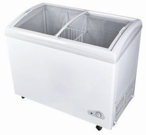 360L Curved Glass Door Chest Freezer