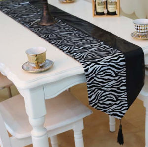 Metallic Print Table Runner Decorative PU Table Flag (JTR-58) pictures & photos