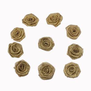 Metallic Gold Ribbon Flower pictures & photos