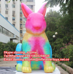 Lighting Inflatable Sitting Rabbit Bunny for Club Events Decoration