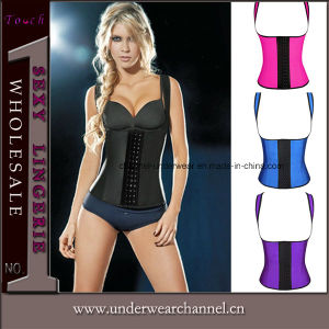 3 Hooks Rubber Waist Training with Shoulder Strap Corset (TLQ991) pictures & photos