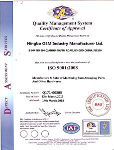 Custom Precision Metal Stamping Parts ISO 9001 Certificated pictures & photos