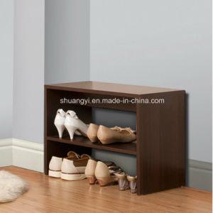 Household Livingroom Wooden Display Shoe Cabinet Shoe Racks pictures & photos