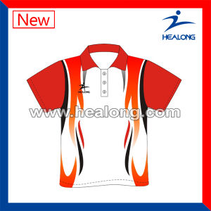 Customized Sublimation Bowling Polo Wear with High Quality pictures & photos