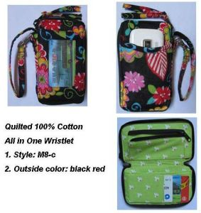 Quilted Cotton Wristlet Wallet (M8-C)