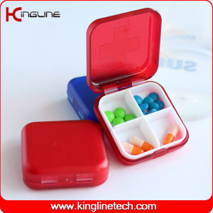 Plastic Square Pill Box (KL-9062) pictures & photos