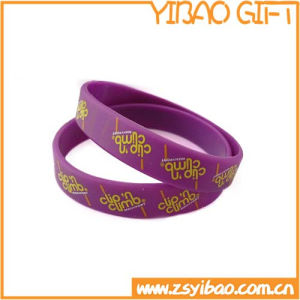 Factory Price Silicone Wrist Band with Customize Logo (YB-w-011) pictures & photos