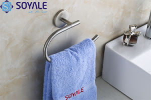 Zinc Alloy Towel Ring with Brush Nickel Surface Finishing (SY-5960)