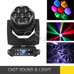 7* 15W RGBW LED Mini Zoom Bee Eye Moving Head Light pictures & photos