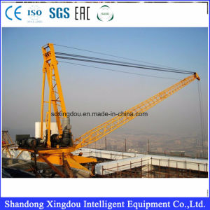 10t/5t Luffing Jib Top Building Crane/Derrick Crane/Lift Mast Section Roof Crane pictures & photos