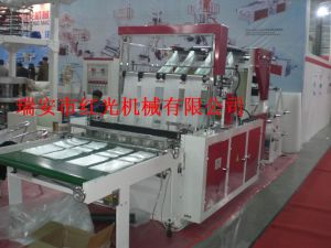 Two Layer Eight Lines Heat-Sealing & Cold-Cutting Bag Making Machine pictures & photos