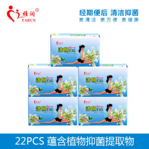 Idividual Package 10 PCS/Box Natural Herbal Organic Female Wet Wipes pictures & photos